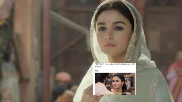 Alia Bhatt in a still from the Kalank trailer.