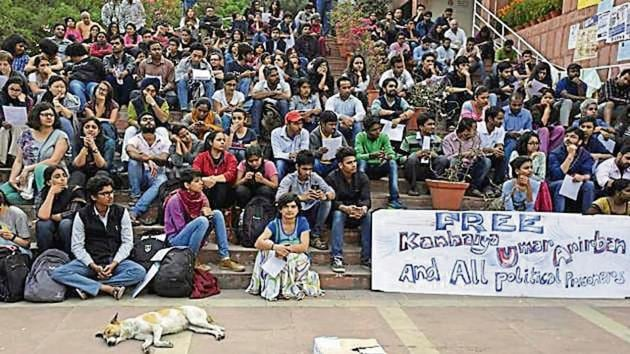 Ten people, including JNU students, are facing sedition charges.(HT Photo)