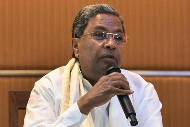 Congress leader Siddaramai joined a chorus of voices against the Centre's draft national education policy, which recommending teaching of Hindi compulsory up to Class 8.(Arijit Sen/HT File Photo)