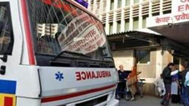 It is to be noted that the health department has already deployed 62 ambulances across the city to manage road accident emergencies.(HT Photo)