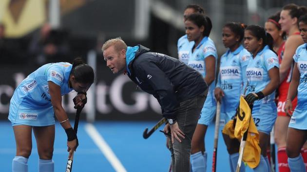 File image of Indian women's hockey coach Sjoerd Marijne.(Getty Images)