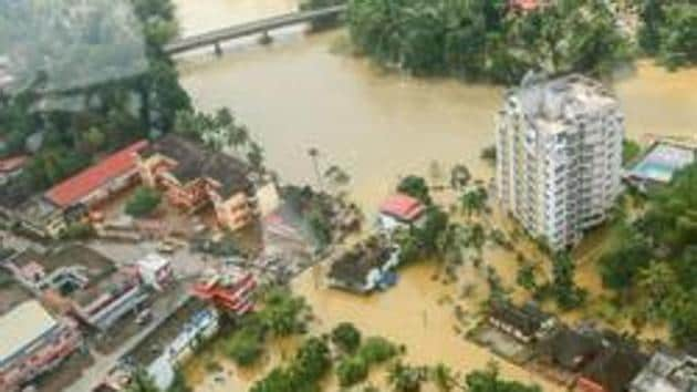 Flood affected areas of Chengannur in Alappuzha district of Kerala.(PTI File Photo)