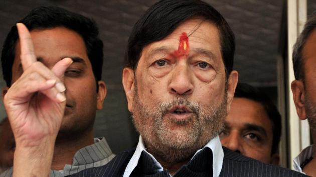 Girish Bapat, BJP candidate for Pune Loksabha(HT FILR PHOTO)