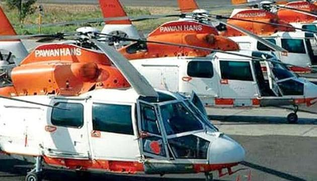 The pilots' union claimed Pawan Hans owed ₹50 lakh per senior pilot in wage arrears.(HT Photo)