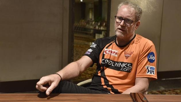 Sunrisers Hyderabad coach Tom Moody during an interview.(Sanjeev Verma/HT PHOTO)