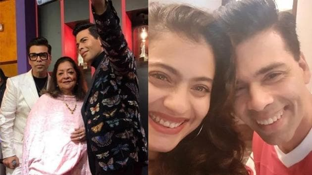 Kajol shared a selfie with Karan Johar to congratulate him for his wax statue at Madame Tussauds.(Instagram)