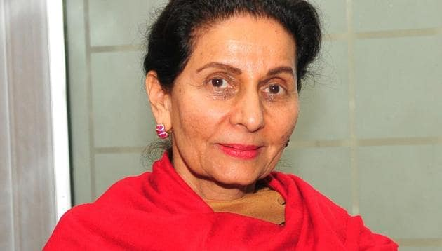 Preneet Kaur is the Congrerss candidate from the Patiala Lok Sabha seat.(HT Photo)