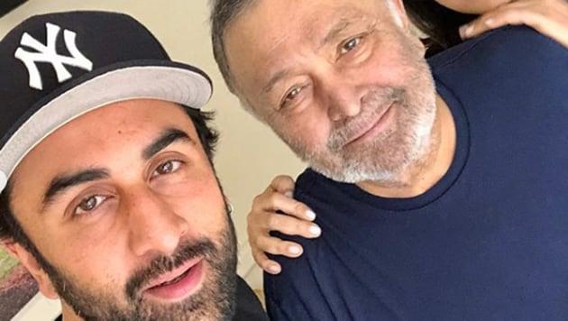 Neetu Kapoor shared photos of son Ranbir Kapoor and husband Rishi Kapoor.