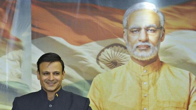 Vivek Oberoi at the poster launch of the biopic on Prime Minister Narendra Modi in Mumbai on January 7, 2019. (Photo by Anshuman Poyrekar/Hindustan Times)(Anshuman Poyrekar/HT Photo)