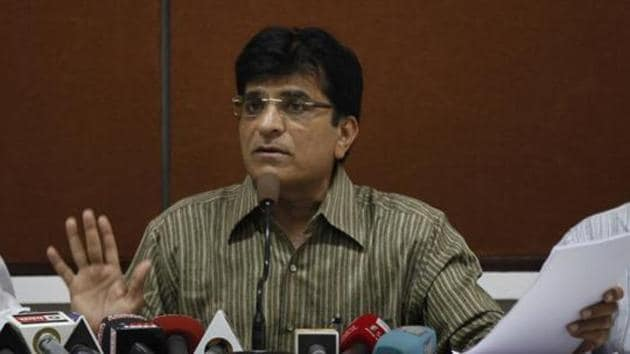 Somaiya had been at the forefront of making allegations of money-laundering against NCP leader Chhagan Bhujbal in the Maharashtra Sadan scam as well as NCP leaders Sunil Tatkare and Ajit Pawar in the irrigation scam.(HT File Photo)
