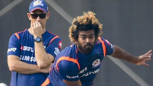 Mumbai Indians (MI) player Lasith Malinga during a training session.(PTI)