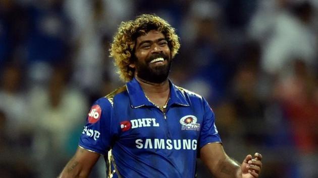 Lasith Malinga celebrates a wicket.(PTI)