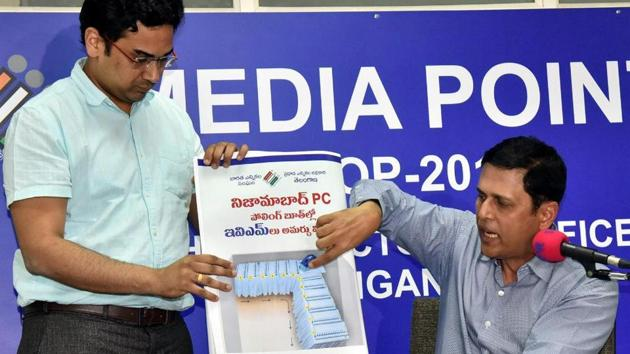 The Election Commission has decided to go ahead with the elections on April 11 using electronic voting machines (EVMs) instead of ballot papers, which were used on earlier occasions when there were large number of contestants.
