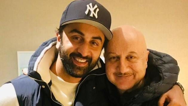 Ranbir Kapoor and Anupam Kher during their meeting in New York.(Instagram)