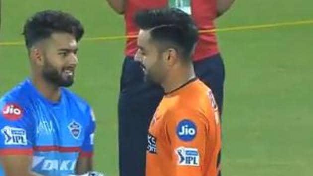 Rishabh Pant and Rashid Khan(Twitter/IPL)