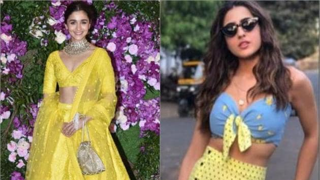 Sara Ali Khan, Alia Bhatt show how to stun in yellow this summer.(Instagram)