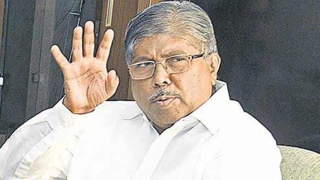 Chandrakant Patil said he entered the state cabinet by accident and has decided not to contest any election.(Pratham Gokhale/HT Photo)