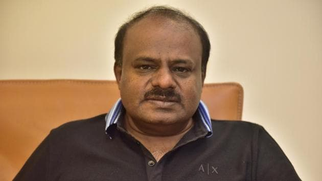 Bengaluru, India - Jan. 3, 2018: Janata Dal (Secular) leader and former chief minister of Karnataka, H D Kumaraswamy during an exclusive interview with Hindustan Times in Bengaluru, India, on Wednesday, January 3, 2018. (Photo by Arijit Sen/Hindustan Times)to go with Vikram Gopal's story(Arijit Sen/HT Photo)