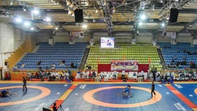 File image of a wrestling arena.(HT Photo)