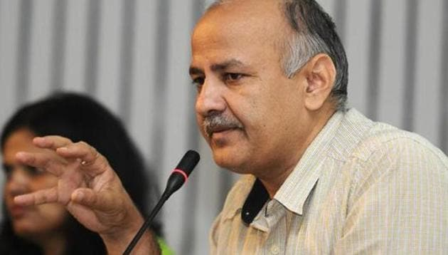 Delhi education minister Manish Sisodia(HT File)