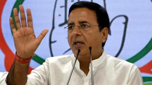 Congress spokesperson Randeep Singh Surjewala(Sushil Kumar/HT FILE PHOTO)