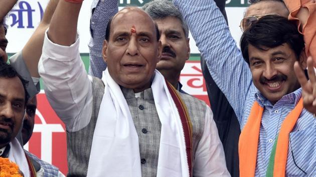 Union home minister Rajnath Singh(Sonu Mehta/HT PHOTO)