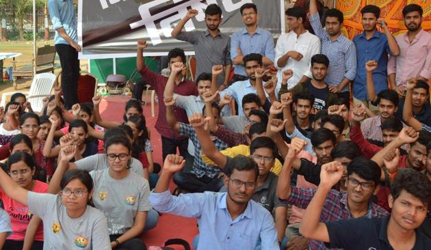 More than 100 students of Grant Medical College (GMC) are up in arms against the authorities of their institution, alleging 'moral policing' and a curbing of their rights.s(HT Photo)