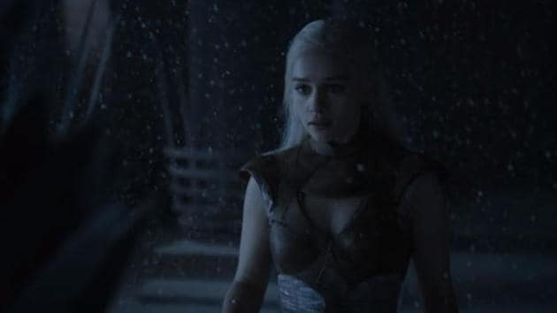 Emilia Clarke in a still from Game of Thrones.