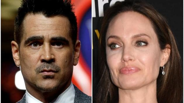 Angelina Jolie and Colin Farrell at the Dumbo premiere.