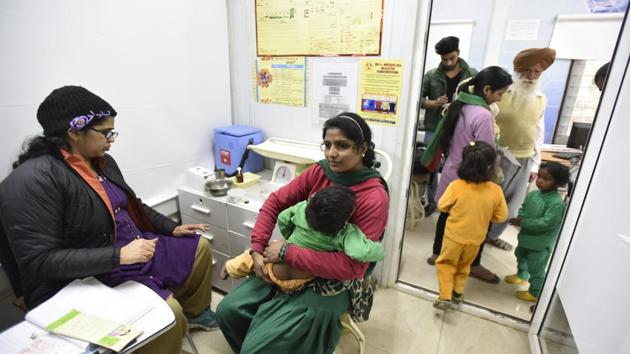 Mohalla clinics a model for universal health coverage(Photo by Virendra Singh Gosain/ Hindustan Times)(Hindustan Times)