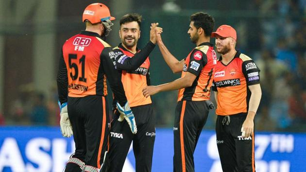 File image of SRH players(AFP)