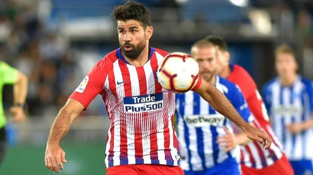 Atletico Madrid's Spanish forward Diego Costa controls the ball during a match.(AFP)