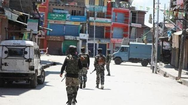 Two militants killed in gunfight with security forces in Jammu and Kashmir's Shopian.(HT Photo)