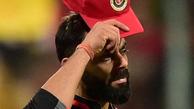 Royal Challengers Bangalore (RCB) skipper Virat Kohli reacts during an Indian Premier League 2019 game.(PTI)