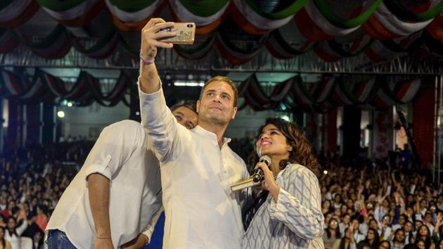 Congress President Rahul Gandhi on Friday said no burden would be put on the middle class to finance the Nyunatam Aay Yojana (Nyay), an anti-poverty scheme that the party has proposed in its manifesto for the Lok Sabha elections.(PTI File Photo)