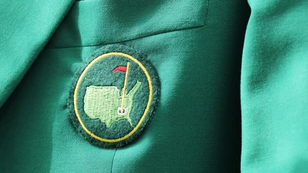 A detail of a green jacket during the Drive, Chip and Putt Championship at Augusta National Golf Club.(AFP)