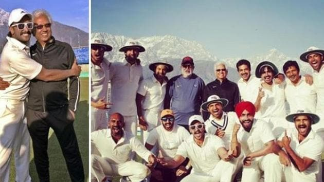 Kabir Khan and Ranveer Singh have shared new pictures from their upcoming film, 83.(Instagram)