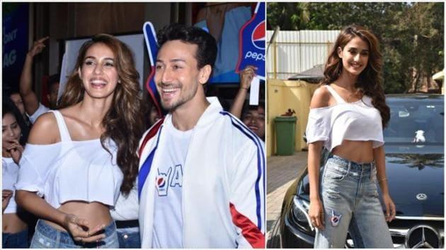 Disha Patani and Tiger Shroff at the Pepsi anthem launch.(Varinder Chawla)
