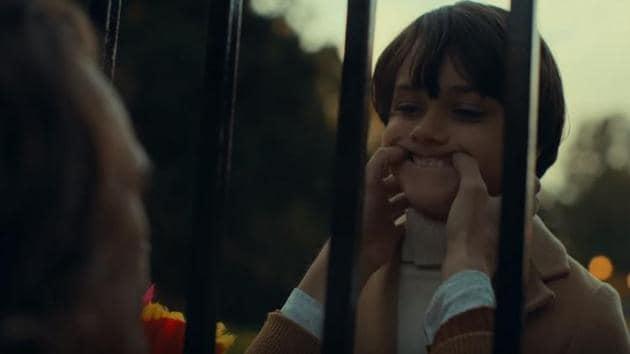Arthur meets Bruce Wayne in a still from the Joker trailer.