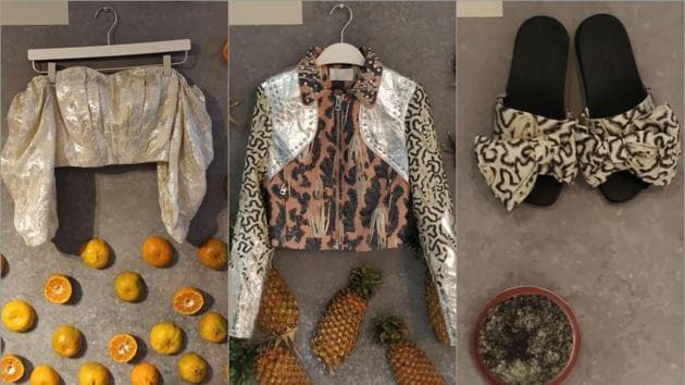 Pineapple leaves, citrus peel, algae biomass, pet bottles: Time to make conscious and sustainable fashion choices.(HM Conscious Collective preview in New Delhi)