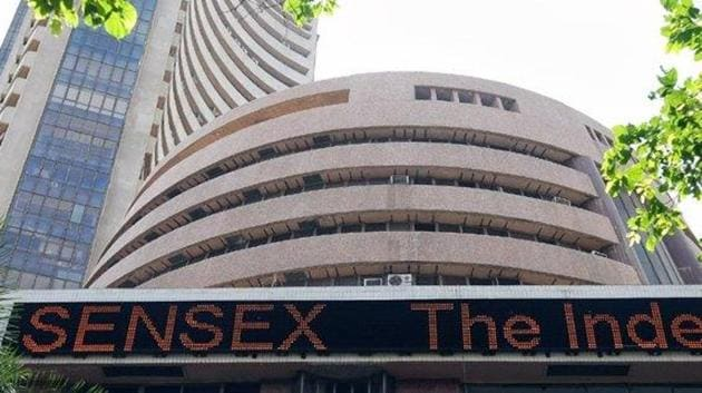 The 30-share index was trading 106.69 points or 0.28 per cent higher at 38,713.70. The gauge had ended 21.66 points, or 0.06 per cent, higher at 38,607.01 in its previous session.(ANI Photo)