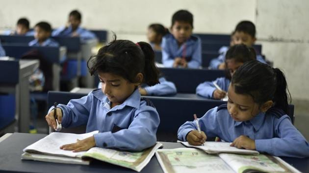 The single-most important goal for education policy in India should be to deliver universal functional literacy and numeracy to reduce learning gaps in early grades itself.(Burhaan Kinu/HT PHOTO)