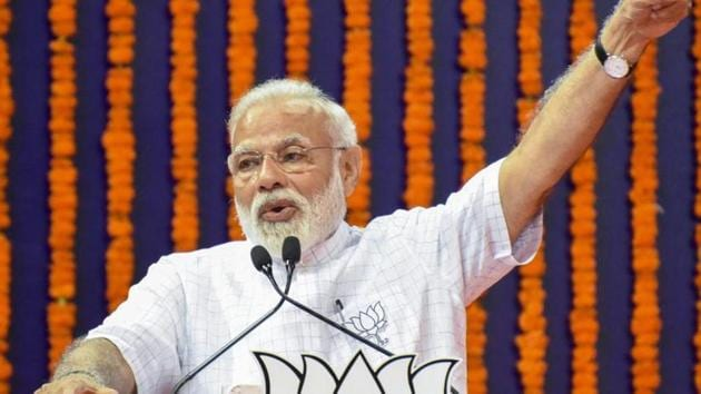 """""""When the infrastructure of roads and Railways doubles, it connects every Indian. Development can never be seen through the narrow prism of votebank politics,"""" the PM said.(PTI FILE PICTURE)"""