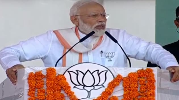 PM Modi also invoked the issue of the Sabarimala temple and accused the Congress, DMK and Muslim League of playing a dangerous game regarding the Sabarimala temple.(Twitter/BJP4India)