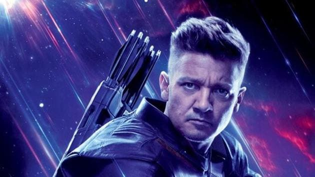Jeremy Renner as Clint Barton in a poster for Avengers: Endgame.