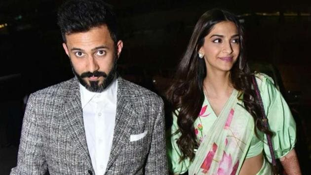 Sonam Kapoor and Anand Ahuja snapped together in Mumbai.
