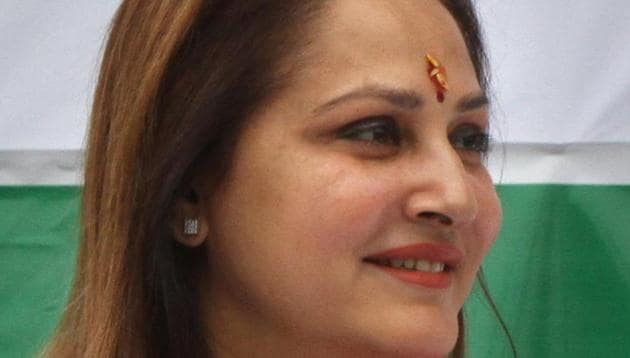 The latest to face this is Jaya Prada, formerly of the Samajwadi Party (SP) and now a member of the Bharatiya Janata Party (BJP). SP leader Azam Khan, in an attempt to highlight her new affiliation, referred to her innerwear being khaki, the colour of the RSS uniform(Arvind Yadav/HT Photo)