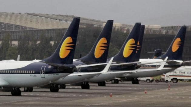 """Corroborating this, a Jet Airways official told IANS in New Delhi: """"A proposal for a fresh fund infusion has been given to the lenders.""""(Prasad Gori /HT Photo)"""