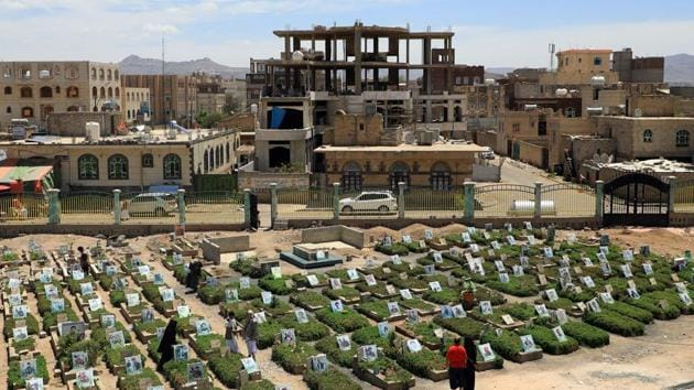The World Health Organization estimates nearly 10,000 Yemenis have been killed since 2015, when Saudi Arabia and its allies intervened to prevent the defeat of the government in the face of a rebel offensive. Human rights groups say the real death toll is several times higher.(AFP)