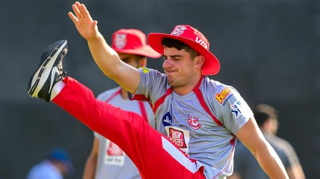 Kings XI Punjab player Moises Henriques picked up an injury ahead of the IPL 2019 game against Rajasthan Royals.(PTI)